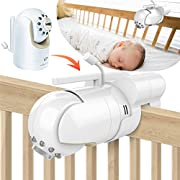Baby Monitor Mount Bracket for Infant Optics DXR-8 Baby Monitor, Featch Universal Baby Cradle Mount Holder for Infant Optics DXR-8(Infant Optics DXR-8 Not Included)