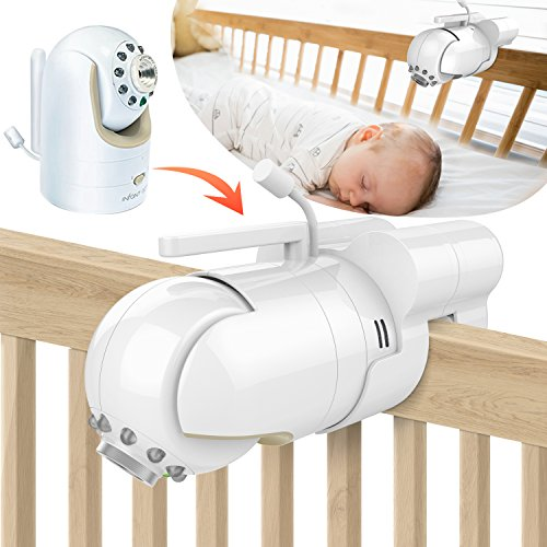 Baby Bracket - Baby Monitor Mount Bracket for Infant Optics DXR-8 Baby Monitor, Featch Universal Baby Cradle Mount Holder for Infant Optics DXR-8(Infant Optics DXR-8 Not Included.)
