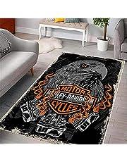 Harley Davidson Antislip Tapijt Computer Stoel Mat Vloermat Slaapkamer Nachtkastje Game Room Decor Tapijt