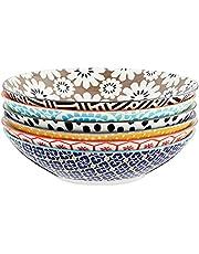 Certified International Chelsea All Purpose Porcelain Bowls, Set of 6, Multicolor