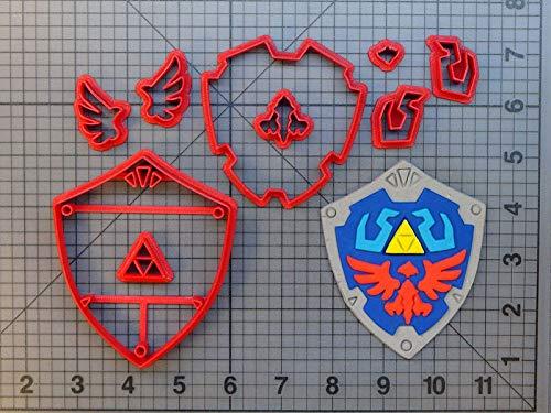 1 piece Video Game Legend of Zelda Cookie Cutter Cake Baking Mold Custom 3D printed Fondant Cupcake Mold Tools Cake Decorating Tools (Printed Custom Cookies)