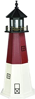 product image for DutchCrafters Decorative Lighthouse - Poly, Barnegat Style (Cherrywood/White/Black, 4)