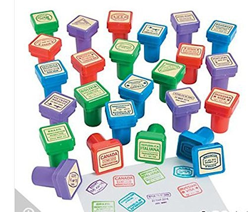 Set of 24 - Passport Stampers
