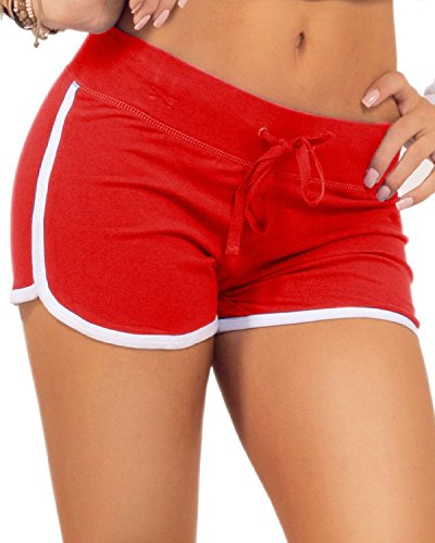 ba-womens-elastic-waist-outline-active-lounge-shorts-redwhite-s