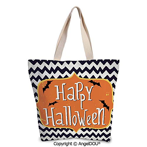SCOXIXI Halloween printed Tote Schoolgirl Bag Ladies Shopper Canvas Bags Cute H]()