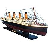 "RMS Titanic 40"" - Titanic Model Cruise Liner - Wooden Cruise Ship - Museum Qual"