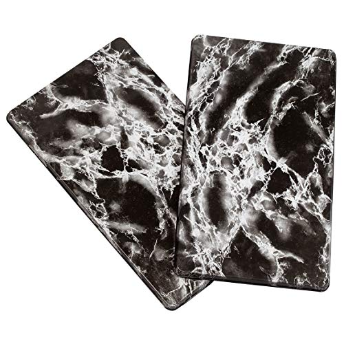 Miles Kimball 351050 Marble Burner Covers Set of 2, One Size, Black