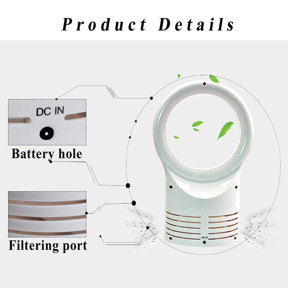 Adatta Per Lufficio//Uso Domestico WAOBE Ventilatore Senza Pale Della Famiglia Muto Elettrico Mini Scrivania Risparmio Energetico Senza Ventola Ventilatore
