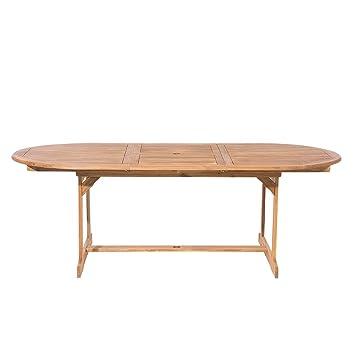Beliani Table de Jardin Ovale Extensible 160/220 x 100 cm en ...