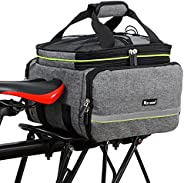 Bicycle Rear Pannier Bag Waterproof, 10-25L Multi-Function Large Capacity Detachable Bicycle Tail Seat Trunk B