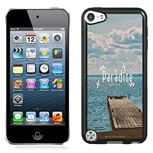 NEW Unique Custom Designed iPod Touch 5 Phone Case With Paradise Beach Dock_Black Phone Case