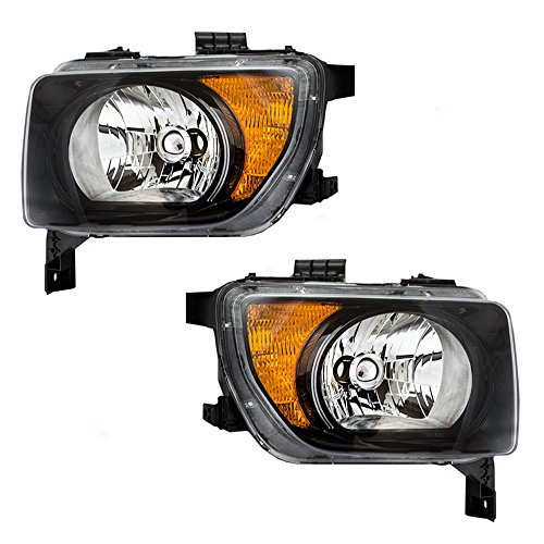 Driver-and-Passenger-Headlights-with-Dark-Bezels-Replacement-for-Honda-33151SCVA21-33101SCVA21