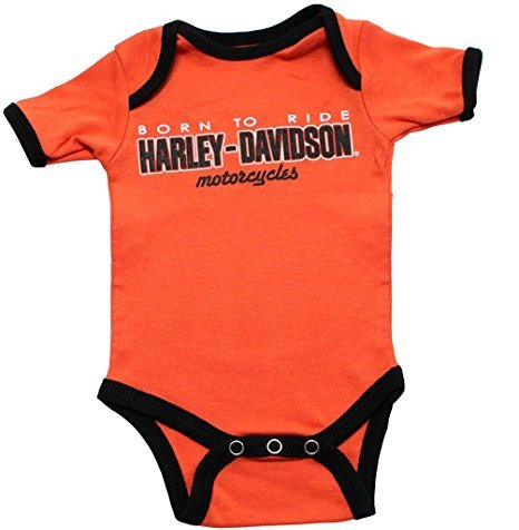 Harley Davidson Infant Onesie Orange