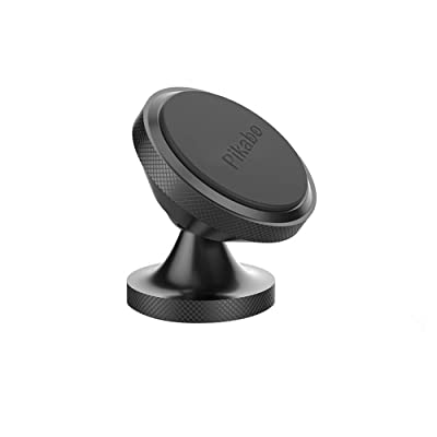 Magnetic Phone Car Mount, Pikabo Universal Stick On Dashboard 360 Degree Rotation Magnetic Cell Phone Holder for iPhone 11 Pro Max Xs MAX X 8 7 6 Plus Samsung Huawei Xiaomi and Others. (Black)