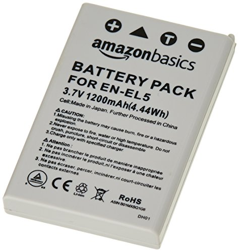 AmazonBasics Li-Ion Battery for Nikon Cameras (EN-EL5) -