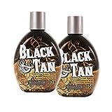 Millenium Tanning Black and Tan 75X Bronzer Indoor Dark Lotion Tanning, 2 Count