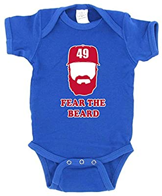"Jake Arrieta Chicago Cubs ""Fear the Beard"" Baby 1 piece"