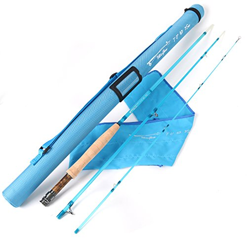 M MAXIMUMCATCH Maxcatch Fiberglass Fly Rod 8'0'' 5wt/7'0'' 3wt Three-piece (Blue, 7'0'' 3wt) (Piece 3 5wt)