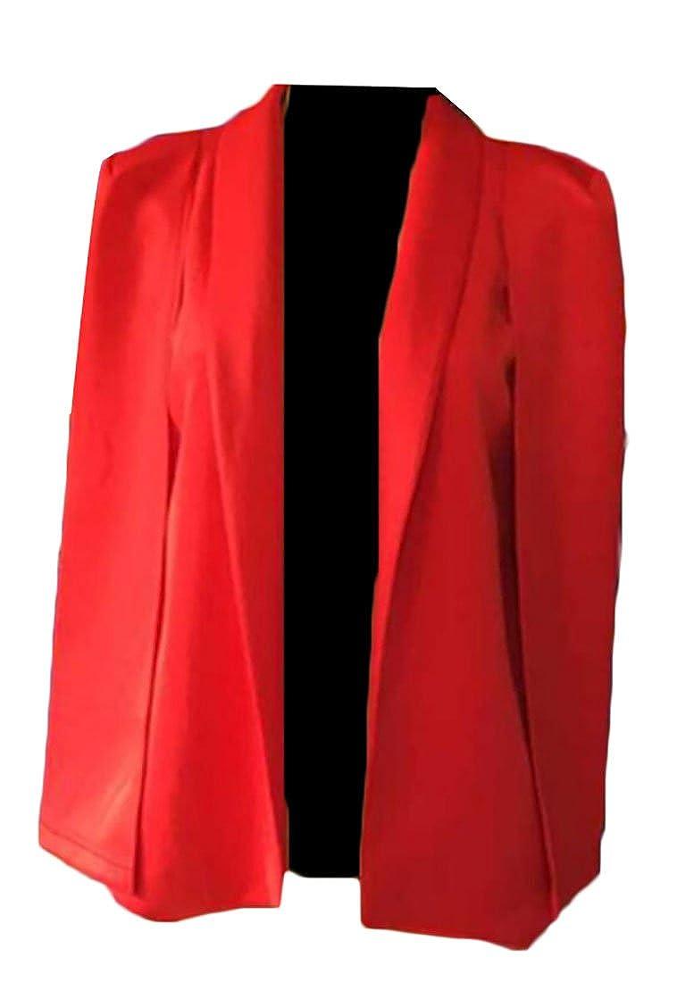 Generic Womens Woven Structured Cape Blazer Suit Jacket