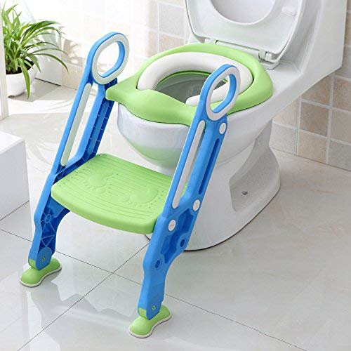 Potty Toddler Toilet Training Seat with Sturdy Non-Slip Ladder Step, Potty Toilet Trainer Seat with Step Stool Ladder by Good-love (Image #1)