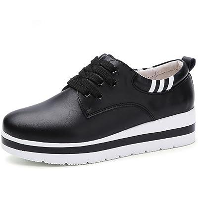 80cb343fc31f Mme Spring chaussures d ascenseur Muffin chaussures de sport des femmes à  fond épais simple