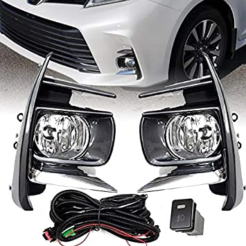 Fit 2017-2018 Toyota Sienna Complete Kit  Fog Lights w// Bulbs/&Wiring Kits/&Swtich