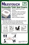 MILESTOUCH - Disposable Paper Toilet Seat Covers - Set Of 2 Packs, Total 20 Sheets