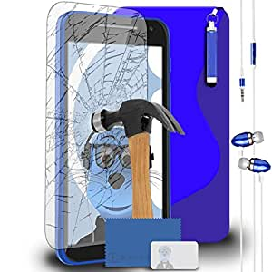 iTALKonline Motorola Moto E (2nd Gen) Moto E2(2015) TPU S Line Wave Hybrid Gel Skin Case Protección Jelly Tapa con ausgeg lichenes Cristal protector de pantalla, Mini Retractable Stylus Pen Y 3,5mm Stereo Manos Libres Auricular