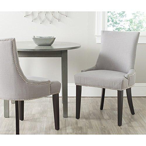 Safavieh Mercer Collection Lester Dining Chair, Artic Grey, Set of 2 -  MCR4709AF-SET2