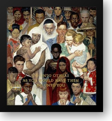 Golden Rule 21x22 Framed Art Print by Rockwell, Norman