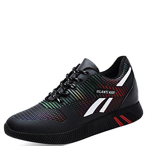 con de Zapatillas con Mujer Casuales Redonda Cabeza Caudal para Baja Deportivas Zapatos Zapatillas y Negro de Gruesas muelles y Correr 18wz7qnxq