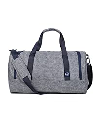 BAGSMART Travel Duffel Bag Large Foldable Weekend Shoulder Handbag overnight bag Gym Bag Carry-on with Shoe Bag 40L, Gray