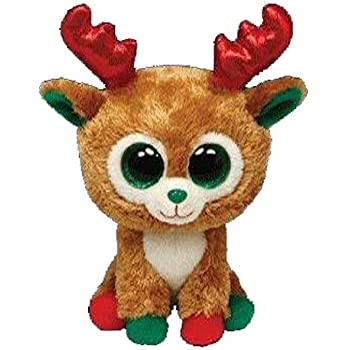 a8ae3259cb4 Amazon.com  Beanie Babies Reindeer Gift Pack TInsel and Peppermint ...