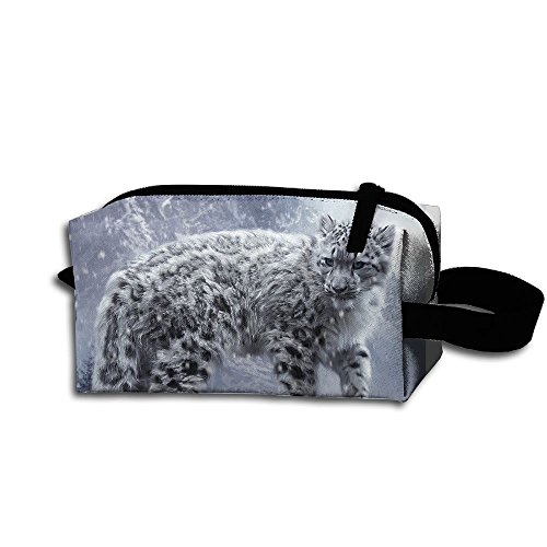 Makeup Cosmetic Bag Cool Animal Zip Travel Portable Storage Pouch For Men Women by Huayaa