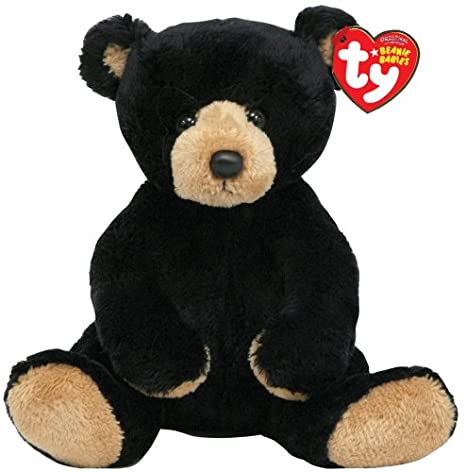 Amazon.com  TY Beanie Baby - SNACKS the Black Bear  Toys   Games cc06af479