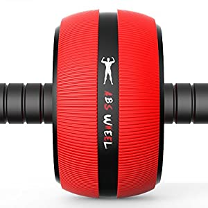 Ab Roller Wheel, LIKEE Core Training Wheel Abdominal Workout Equipment Exercise and Fitness Roller At Home with Knee Pad and Anti-Slip Handles for Man Woman Gymnastics Home Gym