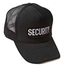 Delux 3D Patch Embroidery Law Enforcement Trucker Hat, SECURITY