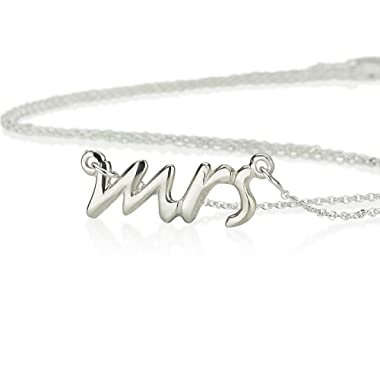 Mrs. Necklace Say Yes Necklace Mrs. Pendant-925 Sterling Silver