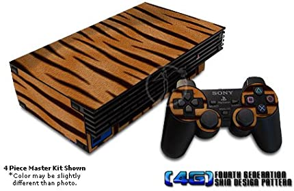 Tiger Fur Design Decal Skin Sticker for Sony Playstation 2 PS2 Console