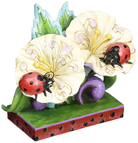 Jim Shore for Enesco Heartwood Creek Ladybugs on Flowers Figurine, 4.75-Inch