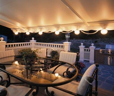 Amazon.com : 12FT SunSetter Black Stripe Motorized Awning : Patio Awnings :  Garden U0026 Outdoor