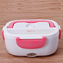 Portable 1.05L Lunch Heated Box Electric Heating Truck Oven Cooker Food Warmer 220V (Red)