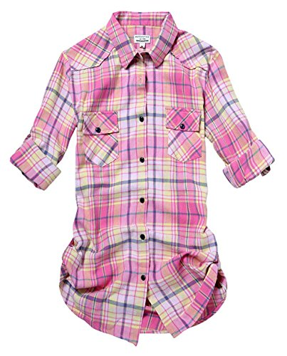 Match Women's Long Sleeve Cotton Plaid Shirt (Small, 2022 Check#2)
