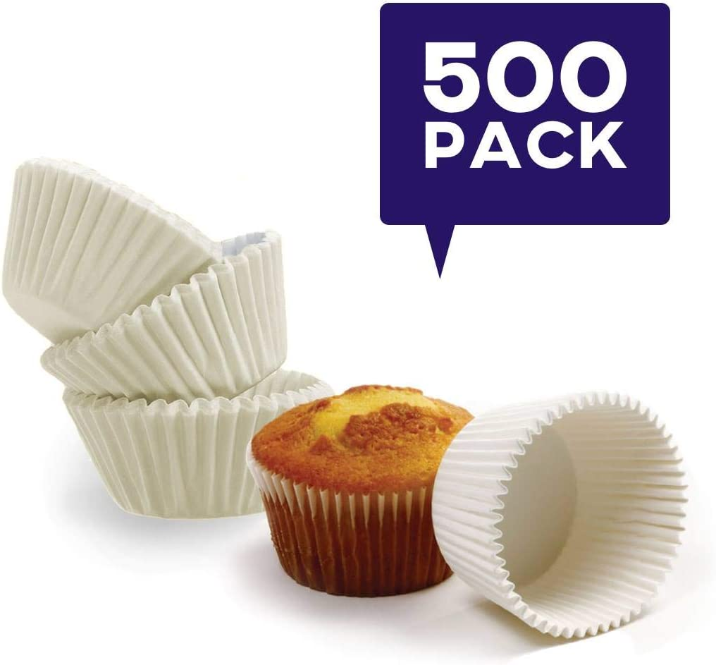 Happy Sales HSGM-500; Giant Muffin Cups, White, Pack Of 500