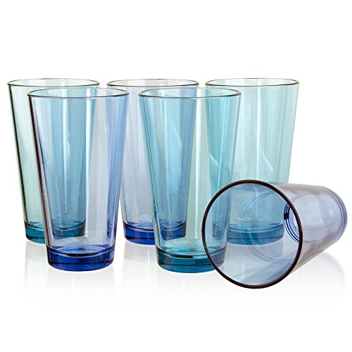 Bistro Premium Quality Plastic 20oz Water Tumbler | Set of 6 (Drinkware)