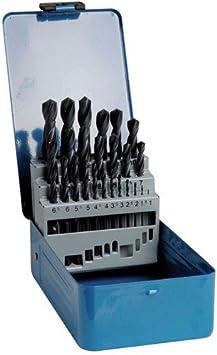 TIVOLY 90200170003 - Estuche G 25 brocas metal HSS laminadas Ø 1>13 mm 1/2 mm: Amazon.es: Bricolaje y herramientas