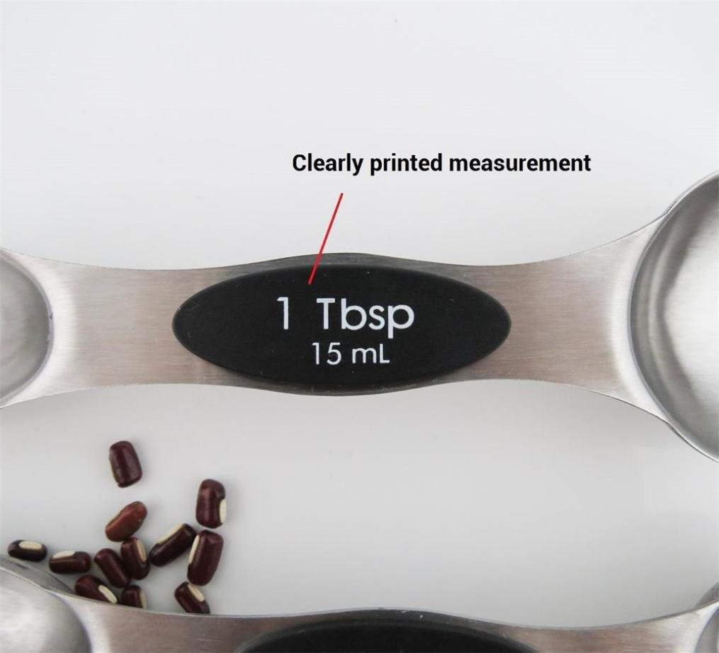 Compra Diadia 18/8 - Cucharas medidoras (Acero Inoxidable, 6 Unidades, para medir el ingrediente de Líquido seco) en Amazon.es
