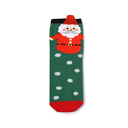 santas toys stockingspure cotton christmas stocking holiday santa claus snowman penguin cartoon cotton socks