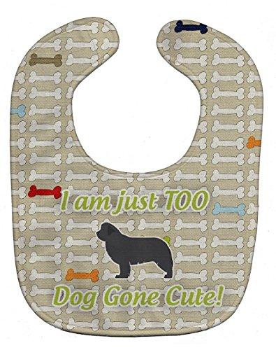 Price comparison product image Caroline's Treasures Dog Gone Cute Baby Bib,  Newfoundland,  Large