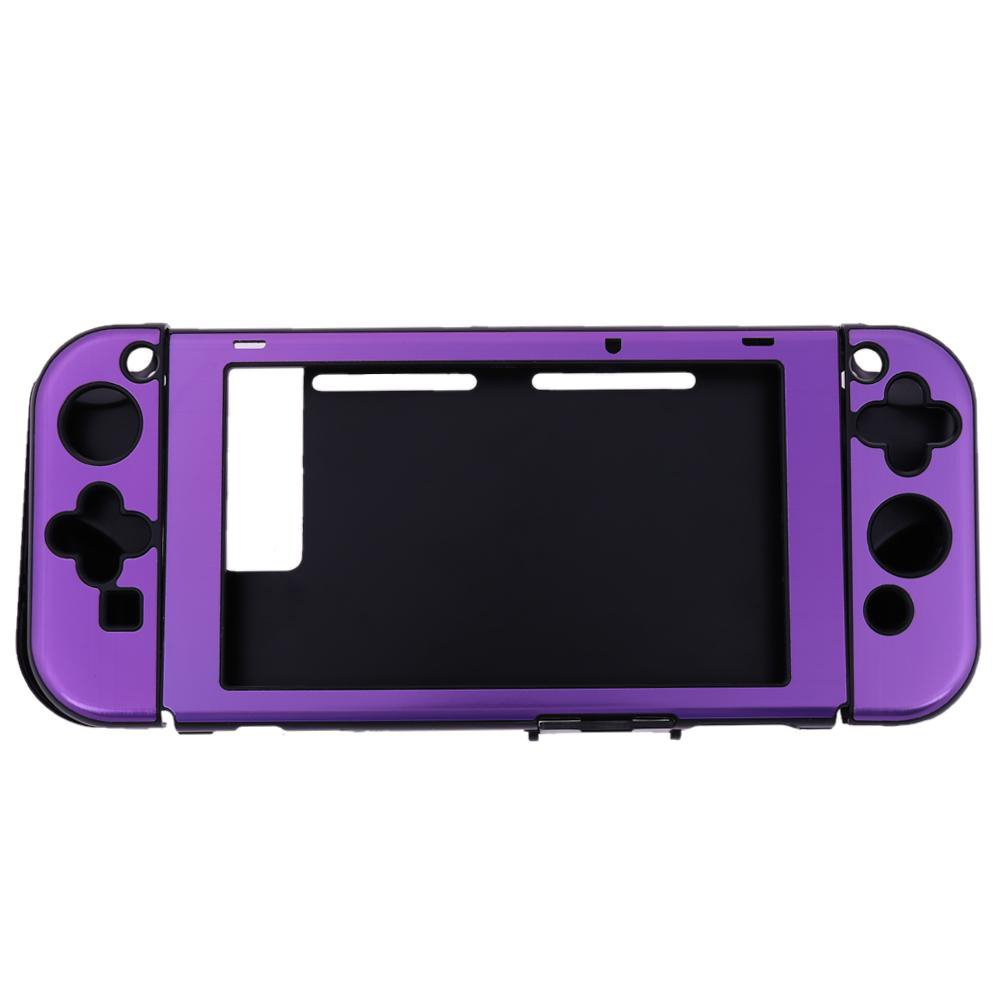 Szjay Aluminum+Plastic Anti-scratch Dustproof Hard Back Protective Case Cover Shells for Nintendo Switch NS Console with Joy-Con Controller (Purple)